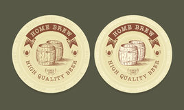 Vector illustration of beer tags Royalty Free Stock Images