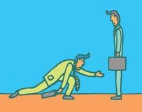 Begging for business stock illustration