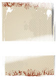 Vector illustration of beige wallpaper Stock Image