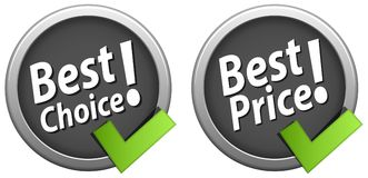 Best choice best price icons. Vector illustration of best choice, best price icons on white background Royalty Free Stock Image