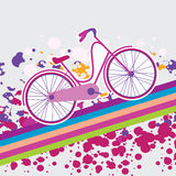Illustration of a bicycle Royalty Free Stock Images