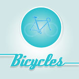 Vector illustration of a bicycle Royalty Free Stock Image