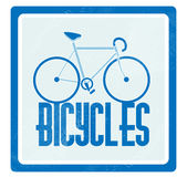 Vector illustration of a bicycle Royalty Free Stock Photo