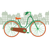 Illustration of a bicycle in the city Stock Image