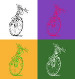 Vector illustration of a bicycle. Clip art of a bicycle from my own pen drawing Royalty Free Stock Photos