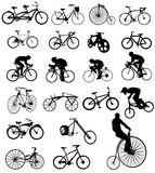 Vector illustration of bicycles Royalty Free Stock Photos