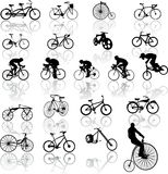 Vector illustration of bicycles Stock Photo