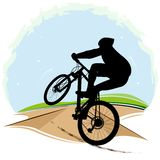 Vector illustration of bicyclist Stock Photography