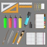 Vector illustration of big office set Royalty Free Stock Photography