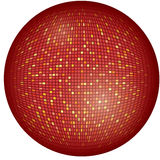 Vector illustration of big, red disco ball Royalty Free Stock Photos