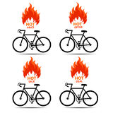 Vector illustration bike  shopping sale  with hot sale ,deal sale,price sale, offer sale Stock Photo