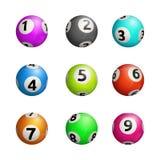Vector illustration of bingo balls.  on white background. Royalty Free Stock Photo