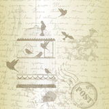 Vector illustration, of bird cage Royalty Free Stock Images