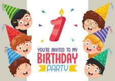 Vector Illustration Of Birhday Invitation Card Design. Eps 10 Royalty Free Stock Images