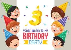 Vector Illustration Of Birhday Invitation Card Design. Eps 10 Royalty Free Stock Photography