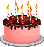 Vector illustration of Birthday cake Stock Photos