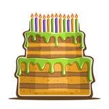 Vector illustration of birthday Cake Royalty Free Stock Image
