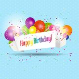 Vector illustration of Birthday card with cake Stock Image