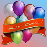 Vector illustration of birthday greeting card with Stock Photo