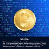 Bitcoin element on digital modern background stock illustration