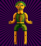 Vector illustration of bizarre modernistic avatar, cubism theme Royalty Free Stock Image