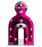 Vector illustration of bizarre modernistic avatar, cubism theme Royalty Free Stock Images