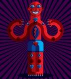 Vector illustration of bizarre modernistic avatar, cubism theme Royalty Free Stock Photos