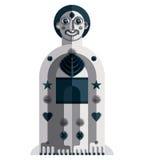 Vector illustration of bizarre modernistic avatar, cubism theme Stock Image