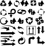 Vector illustration of black arrow icons on white background. Vector illustration of black arrow icons Royalty Free Stock Photo