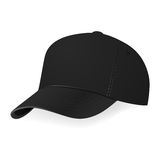 Vector illustration of black baseball cap in a half-turn Royalty Free Stock Photography