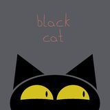 Vector illustration a black cat Royalty Free Stock Image