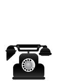 Vector illustration black classical phone Royalty Free Stock Photos
