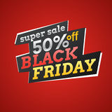 Vector illustration for Black friday. Big sales. Stock Image
