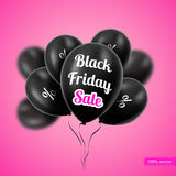 Vector illustration. Black Friday. Black balloons Stock Image