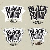 Vector illustration Black Friday and light rays Royalty Free Stock Images