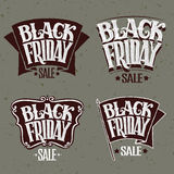 Vector illustration Black Friday and light rays Stock Photo