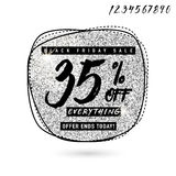 Vector illustration of Black Friday Sale with Discount 35 Stock Image
