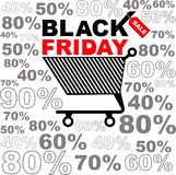 Vector illustration for Black Friday sale. Discount sticker or banners design. Black Friday background. Square shape vector illustration