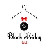 Vector illustration. Black Friday sales. Black Stock Image