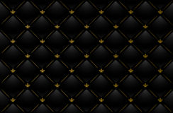 Vector illustration of black leather background royalty free stock photo