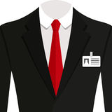 Vector illustration of  black man suit with red tie and white shirt. Vector  illustration of  black man suit with red tie and white shirt Stock Image