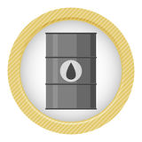 Vector illustration of black metal oil barrel. On white background vector illustration