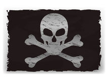 Vector illustration of a black pirate flag Stock Images