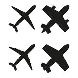 Vector illustration of black planes Royalty Free Stock Photo
