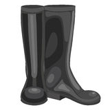 Vector illustration of black rubber boots Stock Photo