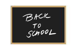 Vector illustration of black school board with handwritten text Back to school isolated Stock Image