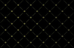 Vector illustration of black vintage wallpaper Royalty Free Stock Photo