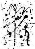 Vector illustration, black watercolor splash Royalty Free Stock Image