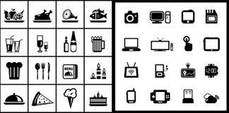 Black icon set Royalty Free Stock Image
