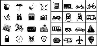 Black icon set Royalty Free Stock Photos